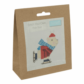Counted Cross Stitch Kit: Skating Polar Bear By Trimits