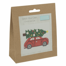 Counted Cross Stitch Kit: Christmas Tree Car By Trimits