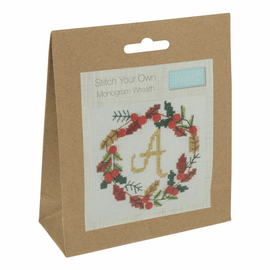 Counted Cross Stitch Kit: Wreath By Trimits