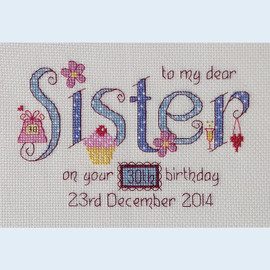Sister Cross Stitch Chart only