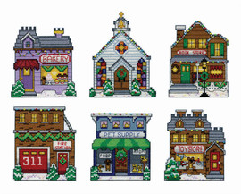 Winter Village Christmas Tree Ornaments Kit By Design Works