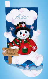 Let it Snow Christmas Stocking Making Kit By Design Works