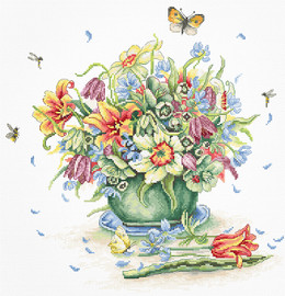 April Bouquet Counted Cross Stitch Kit By Luca S
