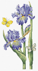 May Iris Counted Cross Stitch Kit By Luca S