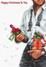 Happy Christmas Counted Cross Stitch Kit by Luca S