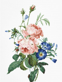 Bouquet with Roses Counted Cross Stitch Kit by Luca S