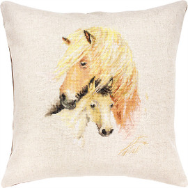 Horse Cushion Counted Cross Stitch Kit By Luca S