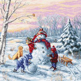 Merry Christmas Counted Cross Stitch Kit By Luca S
