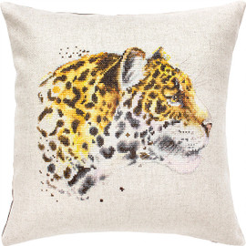 Cheetah Pillow Counted Cross Stitch Kit By Luca S