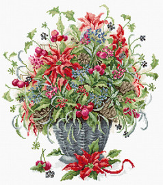 December Bouquet Counted Cross Stitch Kit By Luca S