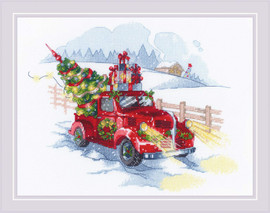 To The Holidays Counted Cross Stitch Kit by Riolis