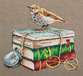 Booklover Counted Cross Stitch Kit by Panna