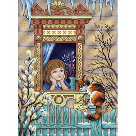 Five Minutes Before Spring Cross Stitch Kit By MP Studia