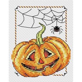 Smiling Pumpkin Cross Stitch Kit By MP Studia