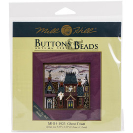 Ghost Town Buttons And Beads Counted Cross Stitch Kit By Mill Hill