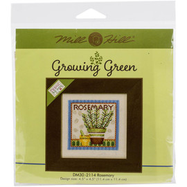 Rosemary Buttons And Beads Counted Cross Stitch Kit By Mill Hill