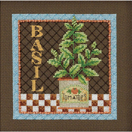 Basil Buttons And Beads Counted Cross Stitch kit By Mill Hill