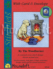 By The Woodburner Cross Stitch Kit by Mouseloft