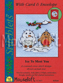 Ice To Meet You Cross Stitch Kit by Mouse Loft