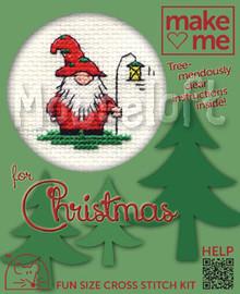 Christmas Gnome Cross Stitch Kit by Mouseloft