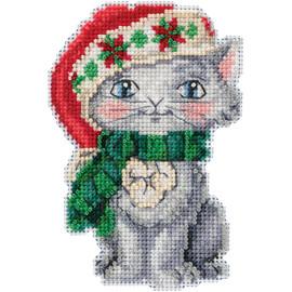 Kitty cross stitch kit by Mill Hill
