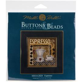 Espresso Cross stitch kit by Mill Hill
