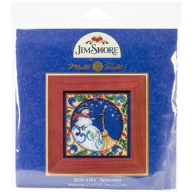 Snowman Cross Stitch and Beading Kit by Mill Hill