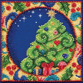 Tree Cross Stitch and Beading Kit By Mill Hill