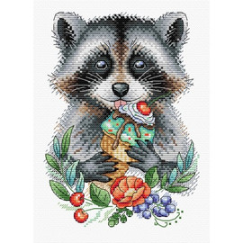 Playful Gourmand Cross Stitch Kit On Water Soluble Canvas By MP Studia