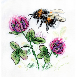 Fragrant Clover Cross Stitch Kit On Water Soluble Canvas By MP Studia