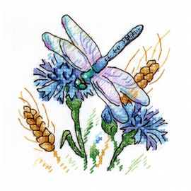 Cornflower Aroma Cross Stitch Kit On Water Soluble Canvas By MP Studia