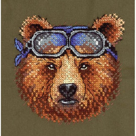 Racer Cross Stitch Kit On Water Soluble Canvas By MP Studia