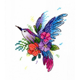 Bird Of Paradise Cross Stitch Kit On Water Soluble Canvas By MP Studia