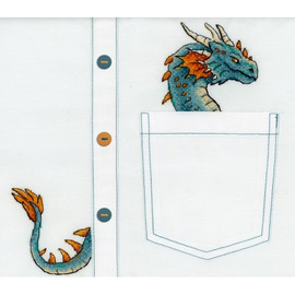 Noble Dragon Cross Stitch Kit On Water Soluble Canvas By MP Studia