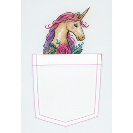 Fairy Tale Unicorn Cross Stitch Kit On Water Soluble Canvas By MP Studia
