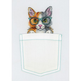 Fluffy Wise Head Cross Stitch Kit On Soluble Canvas By MP Studia