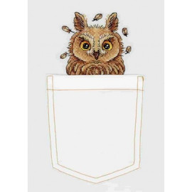 Curious Owl Cross Stitch Kit On Soluble Canvas By MP Studia