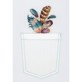 Airy Bouquet Cross Stitch Kit On Soluble Canvas By MP Studia