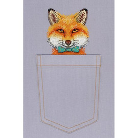 Sly Fox Cross Stitch Kit On Soluble Canvas By MP Studia