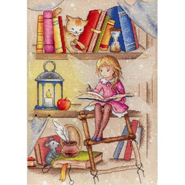 Book Fairy Cross Stitch Kit By MP Studia