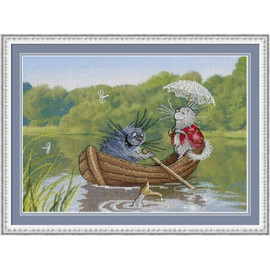 We Took A Boat Ride Cross Stitch Kit By MP Studia