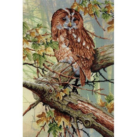 In Forest Lace Printed Cross Stitch Kit By MP Studia