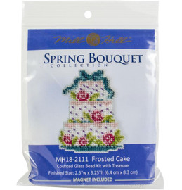 """Frosted Cake Counted Cross Stitch Kit 2.5""""X3.25"""" by Mill Hill"""
