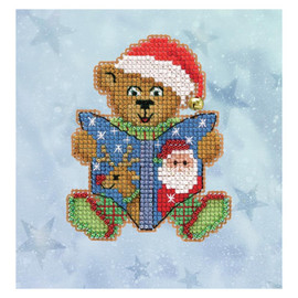 Teddy Tales Cross stitch and Beading kit By Mill Hill
