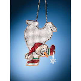 Tumbling Snowman Cross Stitch and Beading Kit by Mill Hill