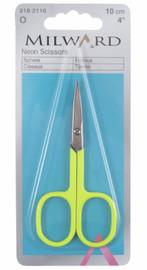Embroidery Scissors 10cm Neon Yellow