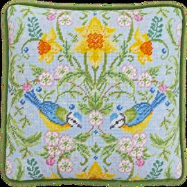 Spring Blue Tits Tapestry By Karen Tye