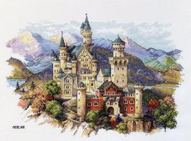 Neuschwanstein Castle Counted Cross Stitch Kit By Merejka