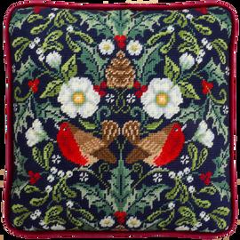 Winter Robins Tapestry kit by Karen Tye Bentley