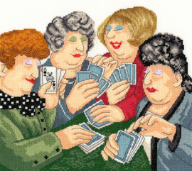 A Full House Cross stitch kit by Beryl Cook